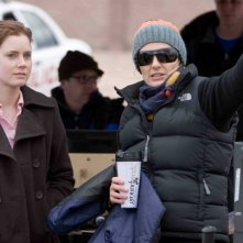 Amy Adams e la regista Christine Jeffs sul set del film Sunshine Cleaning