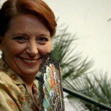 Carmen Scivittaro sul set del film Il sogno nel casello