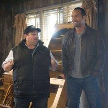Il regista Andy Fickman e Dwayne Johnson sul set del film Corsa a Witch Mountain