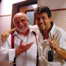 Lucio Allocca e il regista Bruno De Paola sul set del film Il sogno nel casello