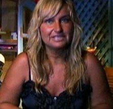 Morena Zapparoli, vedova di Gianfranco Funari, durante La Fattoria 4