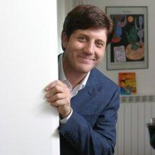 Pietro Pignatelli sul set del film Il sogno nel casello