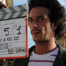 Salvatore Ficarra sul set del film La matassa