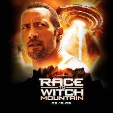 Un wallpaper del film Corsa a Witch Mountain con Dwayne Johnson