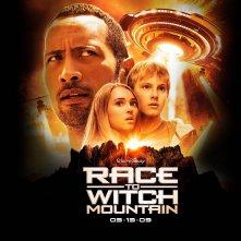 Un wallpaper del film Corsa a Witch Mountain con Dwayne Johnson, Annasophia Robb e Alexander Ludwig