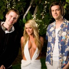Zach Cregger, Sara Jean Underwood e Trevor Moore sul set del film Miss March