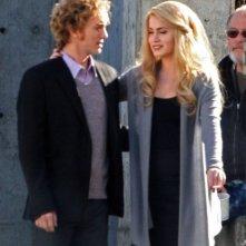Due attori di Twilight: New Moon sul set del film di Chris Weitz a Vancouver