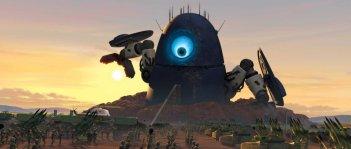 Il misterioso alieno-robot del film d'animazione Mostri contro Alieni