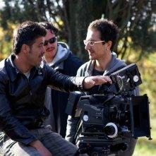 Il regista Valerio D'Annunzio sul set del film Aria