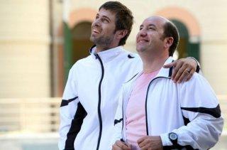 Kim Rossi Stuart e Antonio Albanese in una sequenza del film Una questione di cuore