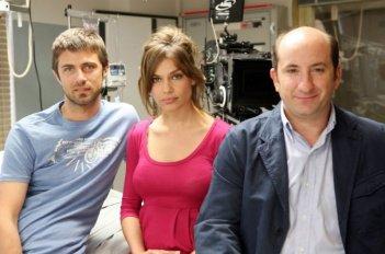 Kim Rossi Stuart, Micaela Ramazzotti e Antonio Albanese sul set del film Una questione di cuore