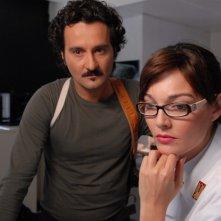 Pilar Abella e Fabio Ferri in una scena di Rex 2