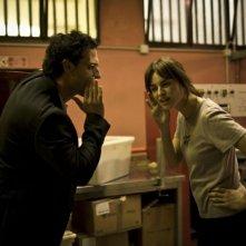 Fabio Troiano e Kasia Smutniak in una scena del film Tutta colpa di Giuda