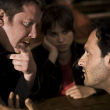 Gianluca Gobbi, Kasia Smutniak e Fabio Troiano in una scena del film Tutta colpa di Giuda