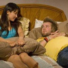 Tyler Labine ed Eriko Tamura in una scena dell'episodio A New Hope di Reaper