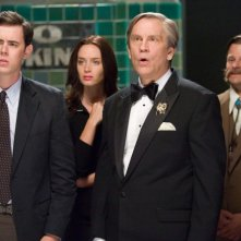 Colin Hanks, Emily Blunt, John Malkovich e Steve Zahn in una scena del film The Great Buck Howard