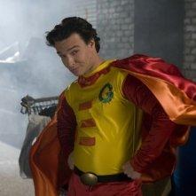 Justin Whalin sul set del film Super Capers