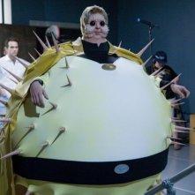 Una foto scattata sul set del film Super Capers