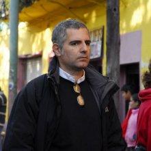 Il regista Luca Manfredi sul set del film tv Scusate il disturbo