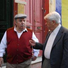 Lino Banfi e Lino Toffolo in un'immagine del film tv Scusate il disturbo