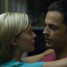 Katee Sackhoff e Tobias Mehler in una scena dell'episodio 'Daybreak: Part 1' dell'ultima stagione di Battlestar Galactica