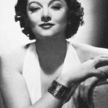 L\'attrice Myrna Loy