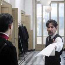 Una scena del film TV Lo smemorato di Collegno