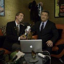 Jack McBrayer ed Alec Baldwin nell'episodio Cutbacks di 30 Rock