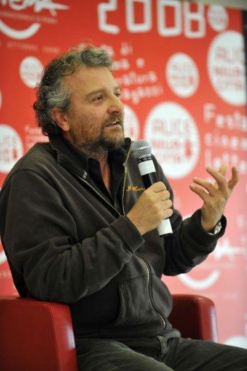 Il regista Giovanni Veronesi alla conferenza stampa per Aspettando il Festival di Roma 2009