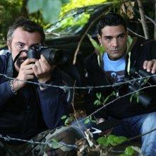 Raffaele Vannoli e Marco Leonardi in una scena della serie tv Squadra Antimafia - Palermo oggi