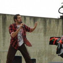 Francesco Signa sul set del film Tutta colpa di Giuda - Una commedia con musica