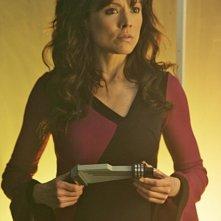 Liz Vassey in una scena dell'episodio 'A Space Oddity' della serie tv CSI: Crime Scene Investigation