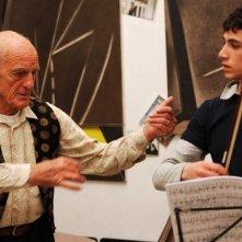 Philippe Leroy e Andrea Lucente in un'immagine del film Nient'altro che noi