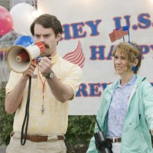 Bill Hader e Kristen Wiig in un'immagine del film Adventureland