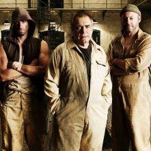 Dominic Cooper, Joseph Fiennes, Brian Cox, Liam Cunningham e Seu Jorge in una foto promozionale del film Prison Escape
