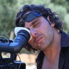 Il regista Massimo Fersini sul set del film Totem Blue