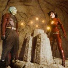 James Marsters (Lord Piccolo) ed Eriko Tamura (Mai) in una scena del film Dragonball