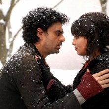 Rolando Villazón e Anna Netrebko in una scena del film La Bohème
