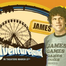 Un wallpaper del film Adventureland con Jesse Eisenberg