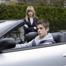Jean-Luc Bilodeau e Kirsten Prout nell'episodio 'Equilibri Precari' della seconda stagione della serie tv Kyle XY