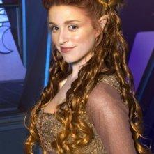 Laura Bertram sul set della serie TV Andromeda