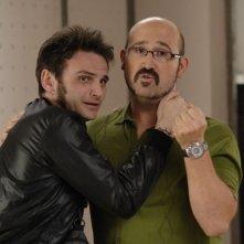 Fernando Tejero e Javier Cámara in un'immagine del film Fuori menù