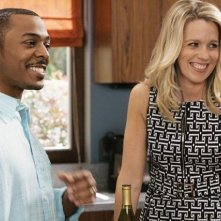 RonReaco Lee e Jessica St. Clair in una scena dell'episodio Shepfather di In the Motherhood