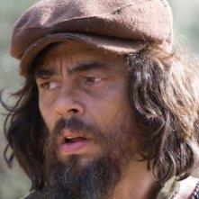 Un primo piano di Benicio Del Toro, interprete del film Che - Guerriglia
