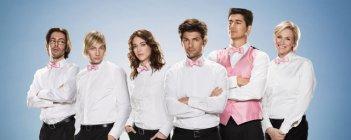Il cast di Party Down in una foto promozionale