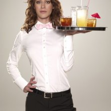 Lizzy Caplan in una foto promozionale di Party Down