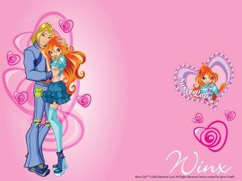 Bloom e Sky in un wallpaper della serie Winx Club