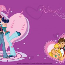Riven, Musa, Brendon e Stella in un wallpaper della serie Winx Club