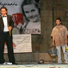 Vincenzo Palazzo durante una performance di Cabaret