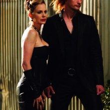 Kristin Bauer e Alexander Skarsgard in True Blood